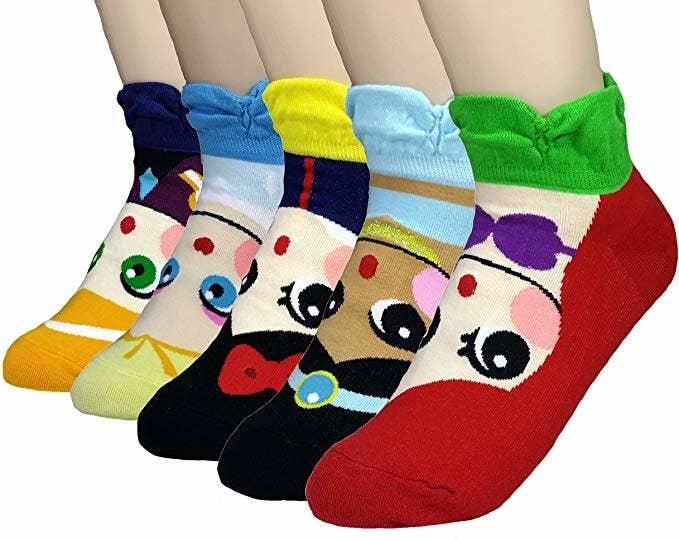 the socks on feet