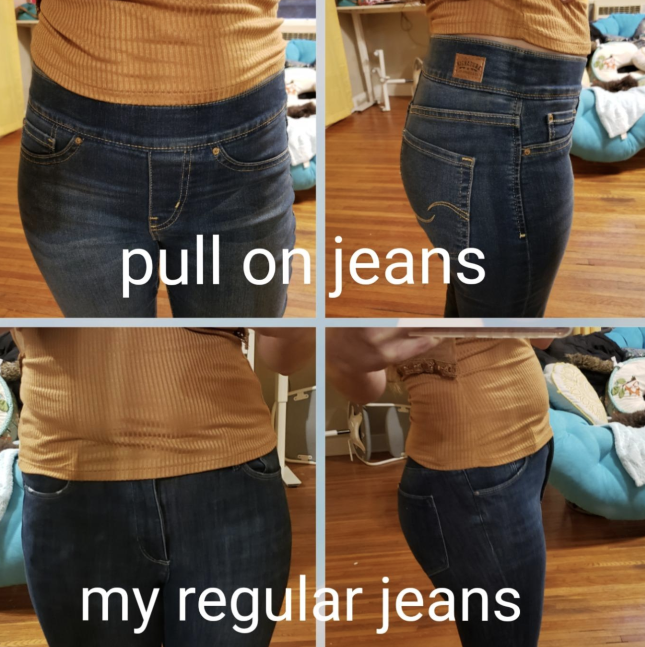 Boys Jean Shorts by Basic Editions-Dark Wash Pull On Elastic Waist XS,S,M,L,XL