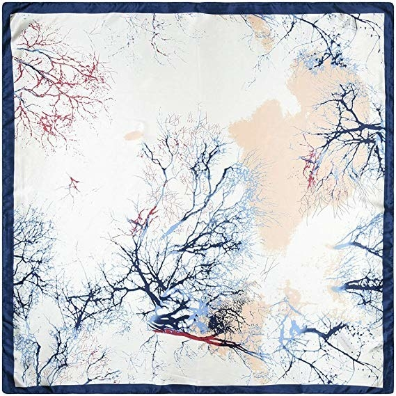 abstract tree branch print scarf