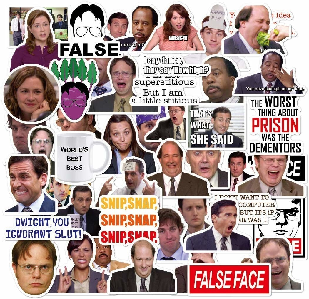 variety of The Office stickers