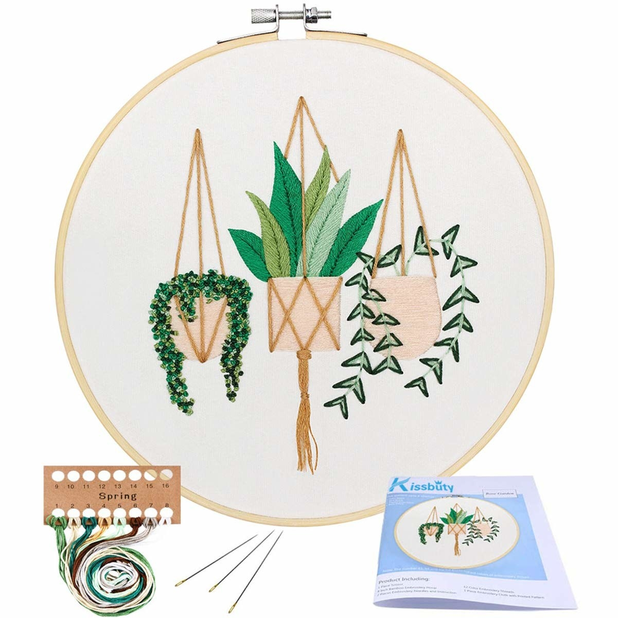 The kit, which looks like three hanging plants when finished
