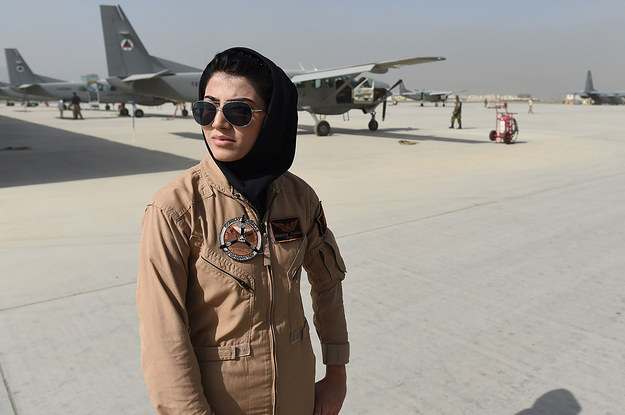 "The ""Badass"" Afghan Pilot Who Went Massively Viral Is Now Living In Exile. She Just Wants To Be Able To Fly Again."