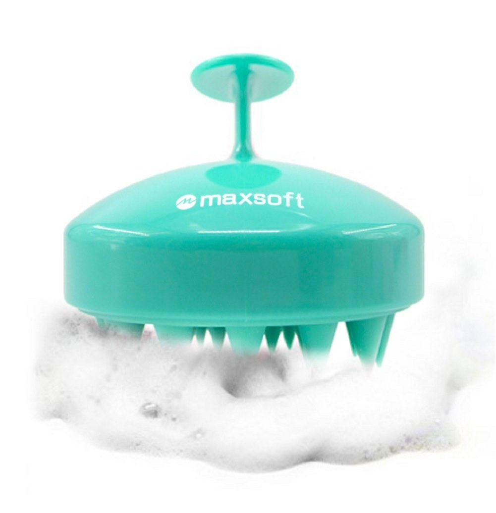 The handheld brush with silicone bristles