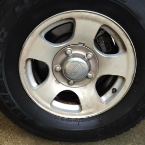completely clean car wheel