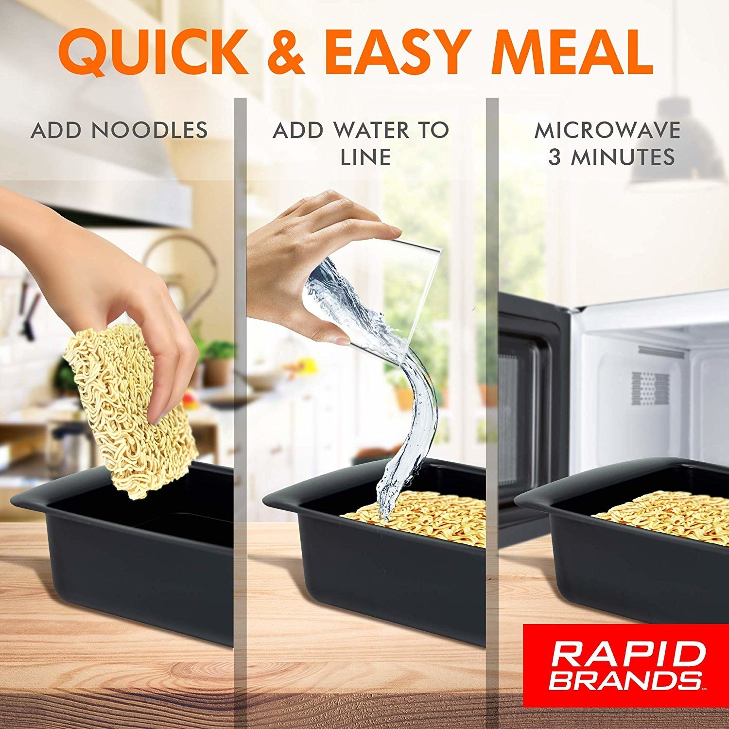 Diagram showing how to use the ramen cooker