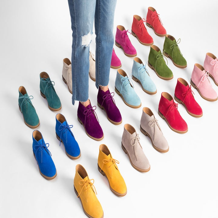 all the boots in different colors