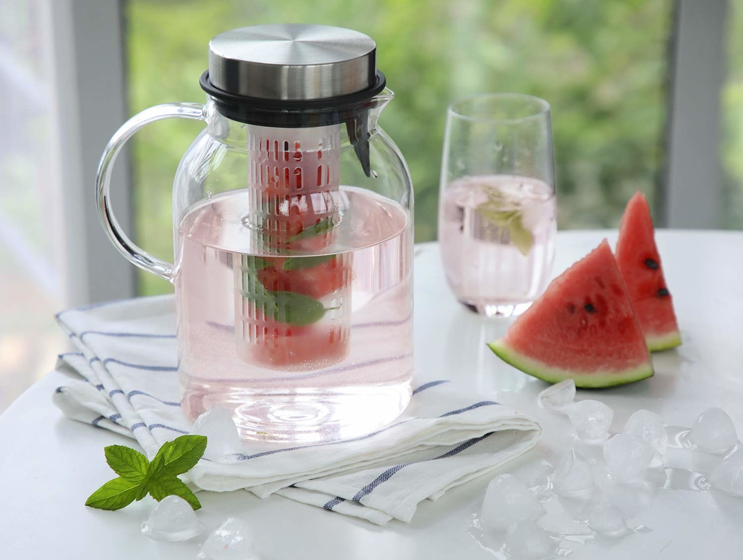 the pitcher with watermelon