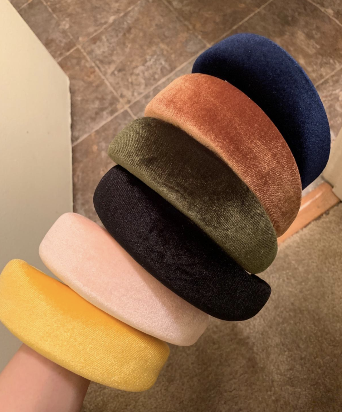 reviewer photo of the multi-colored headbands