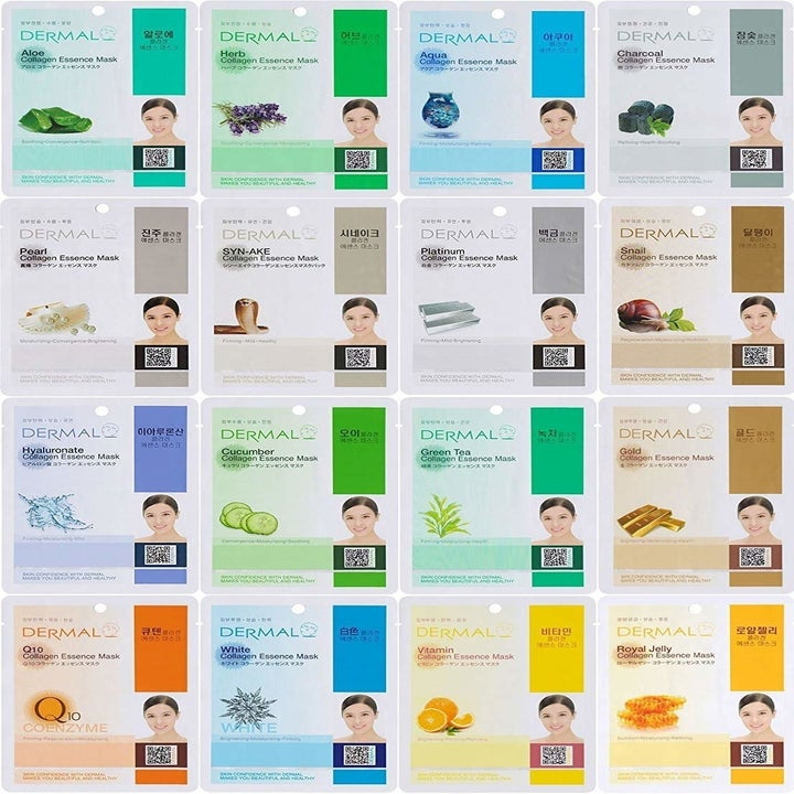 an array of sheet masks
