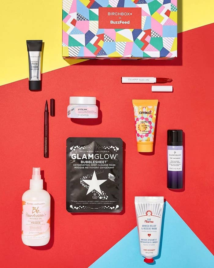 The colorful packaging of the box plus all the beauty products included