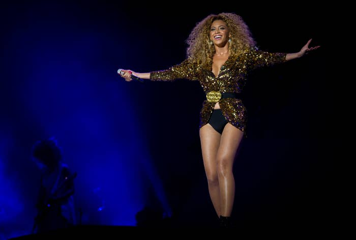 Ian Gavan / Getty Images Beyoncé performs live during the Glastonbury Festival in Glastonbury, England, June 26, 2011.