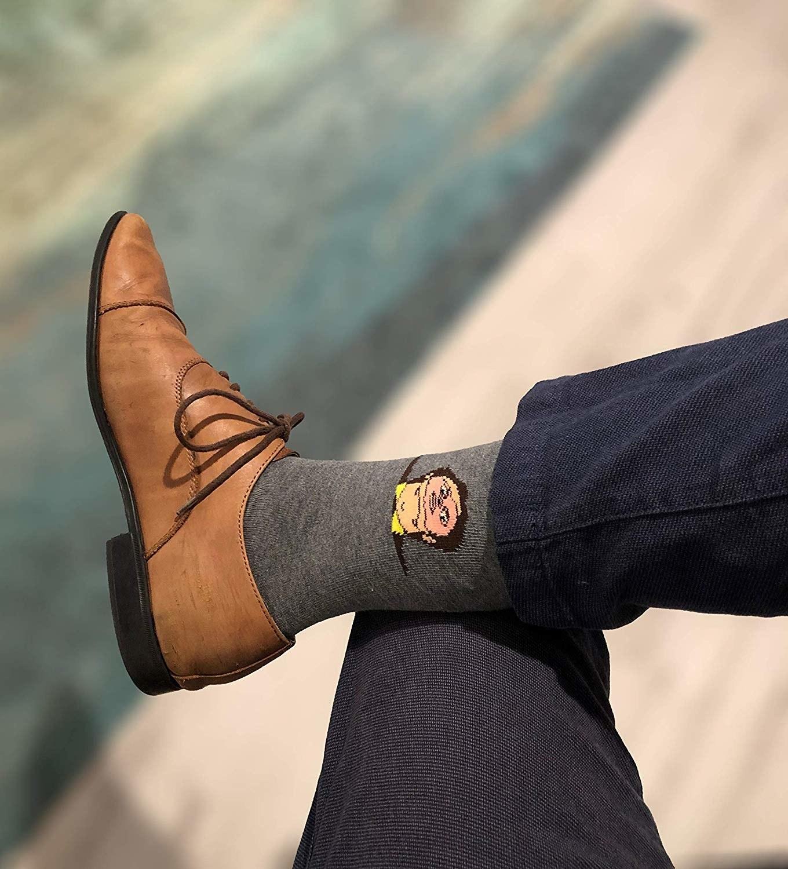 model in the grey socks