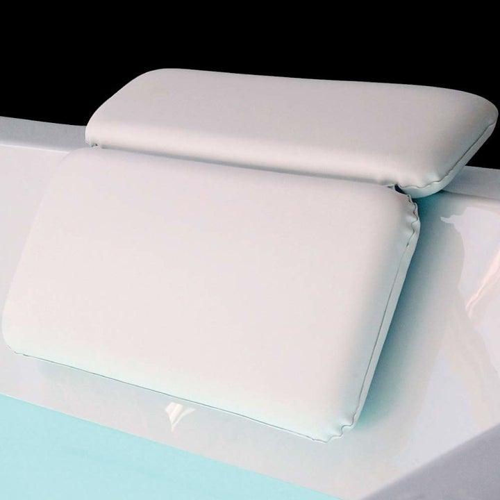 the white bath pillow