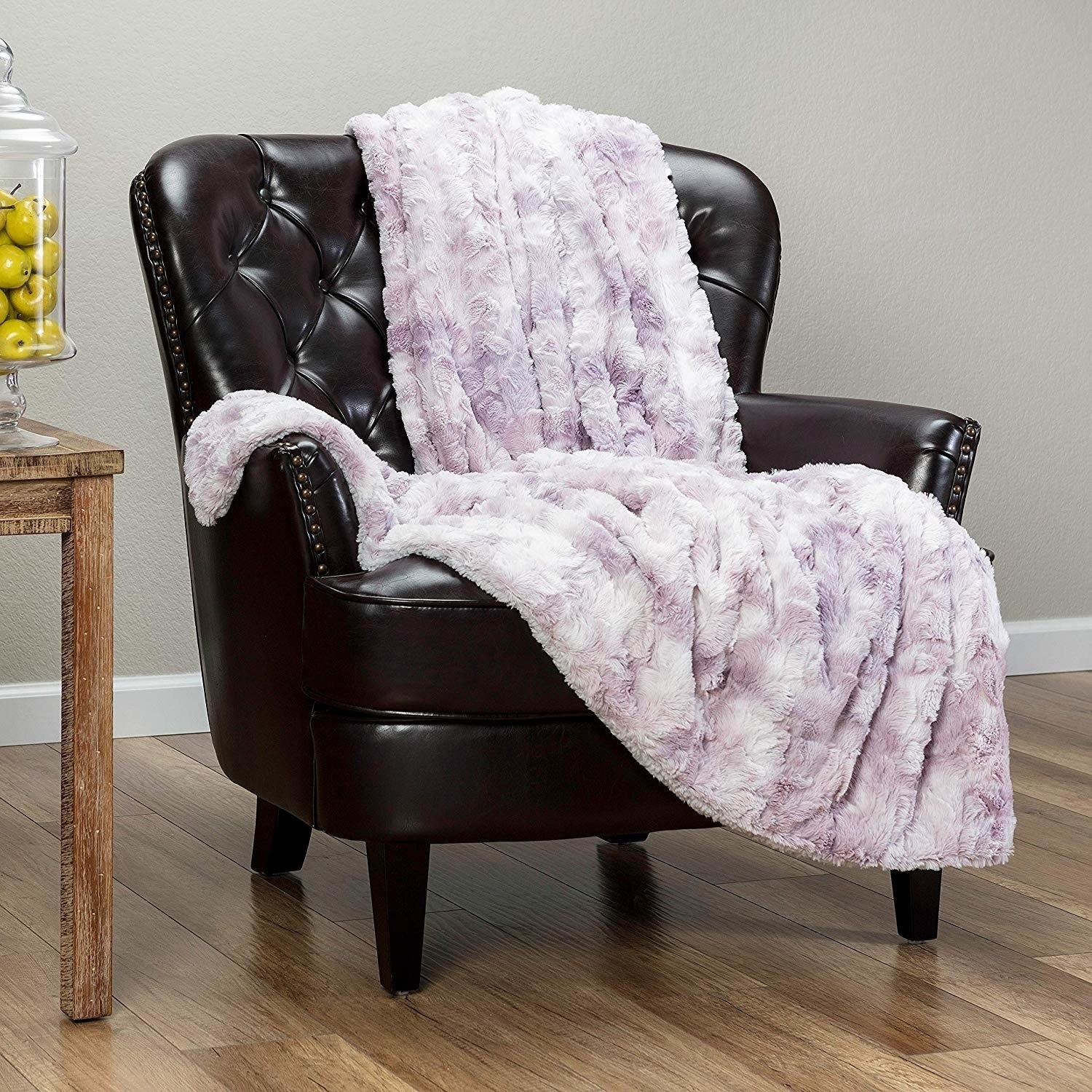 a pink faux fur throw blanket