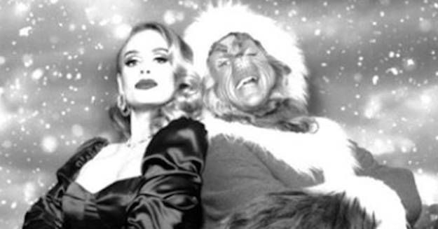 Adele Posted A Gorgeous Photo Of Herself Alongside The Grinch And It Will Definitely Make Your Heart Grow Three Sizes