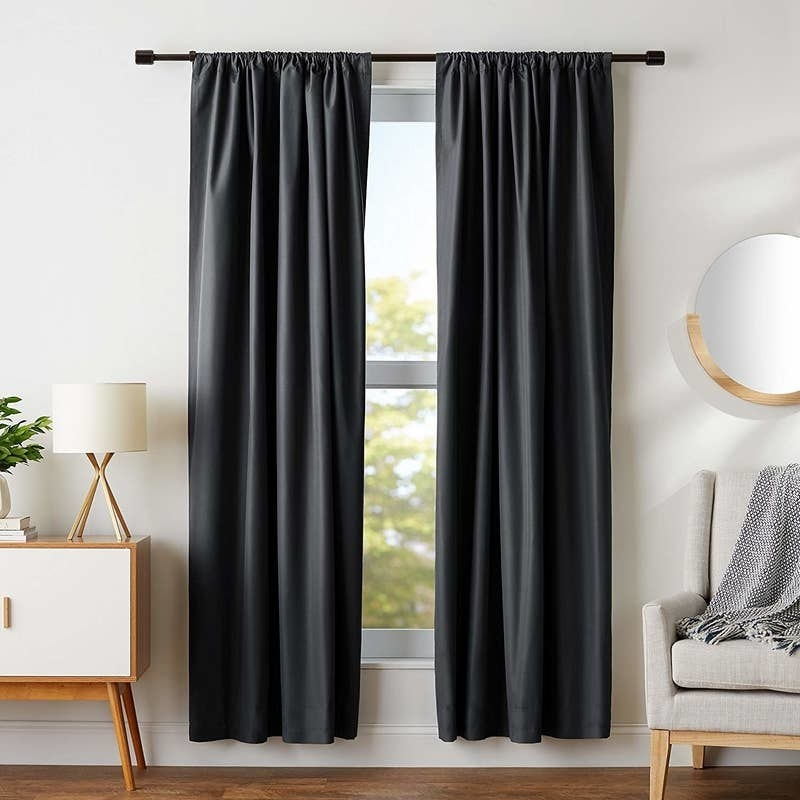 The curtains in black
