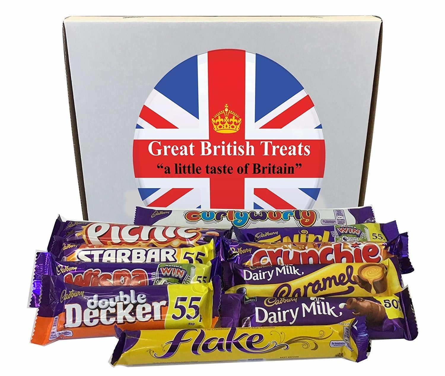 The box of British treats.