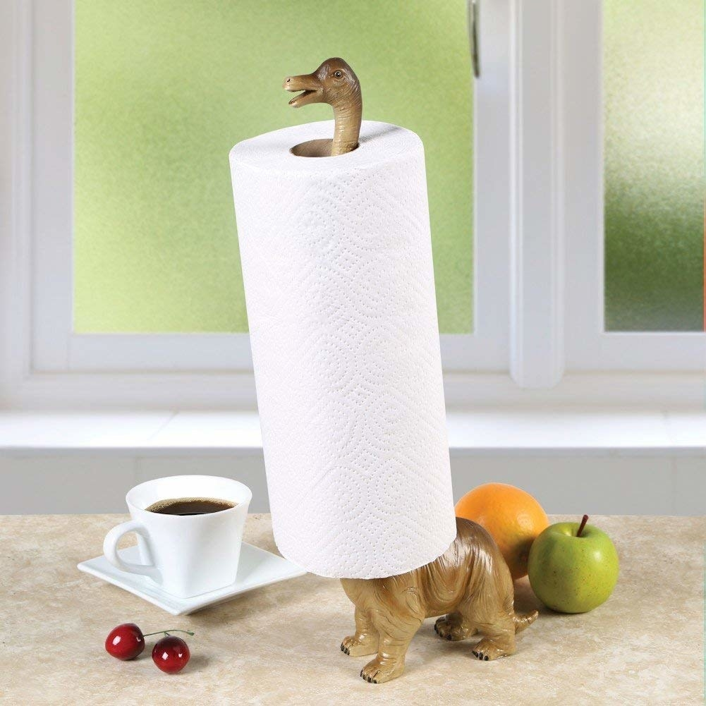The Brontosaurus paper towel holder.