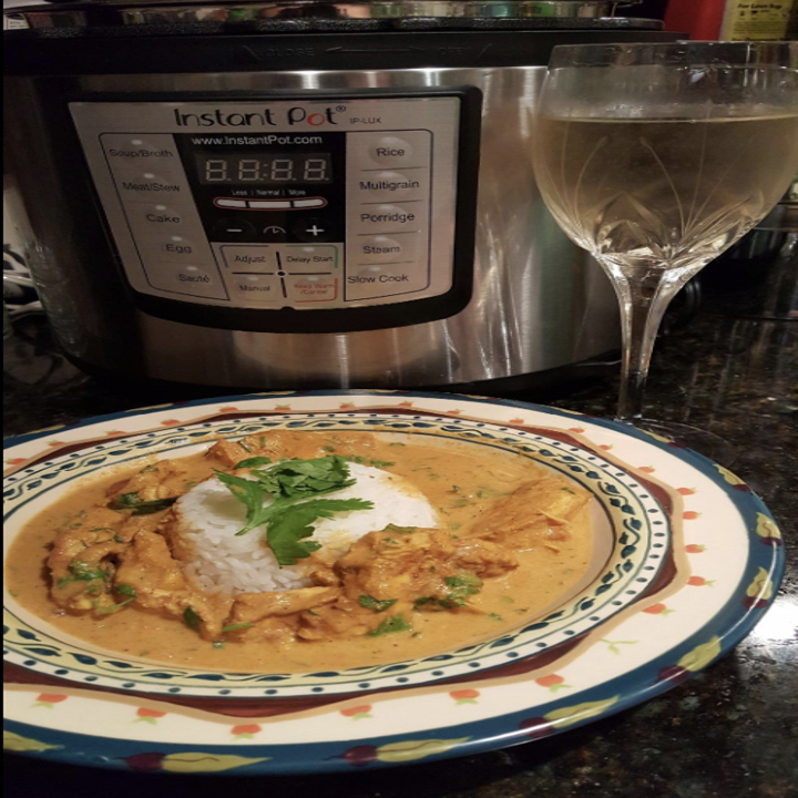 a reviewer's meal made with the instant pot