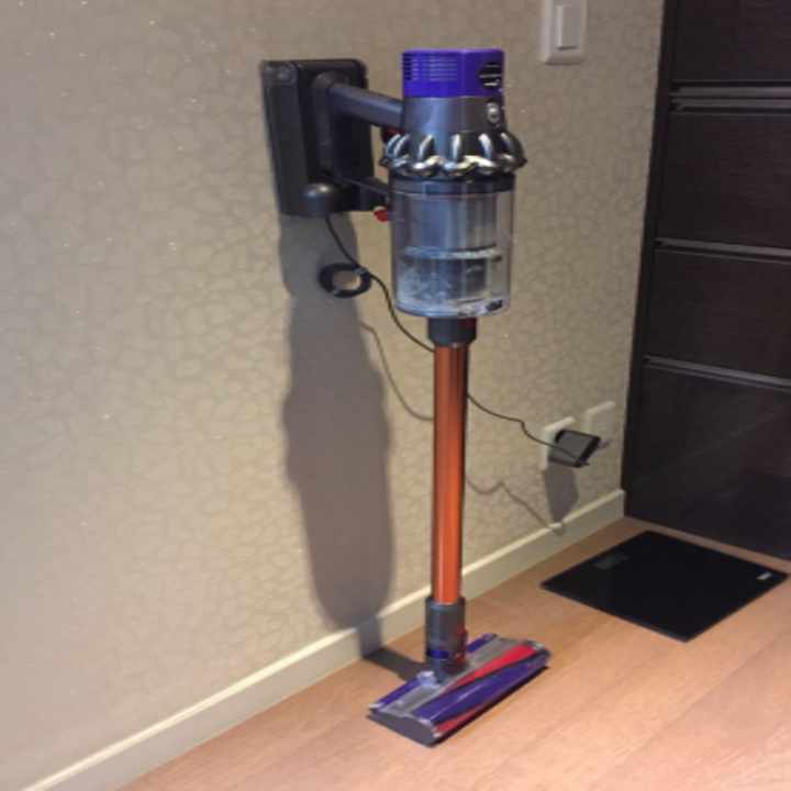 a reviewer's photo of the dyson vacuum