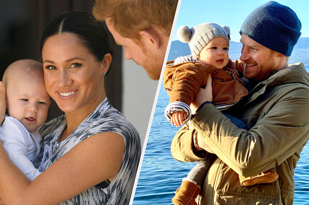 meghan markle and prince harry share new photo of baby archie for the new year meghan markle and prince harry share
