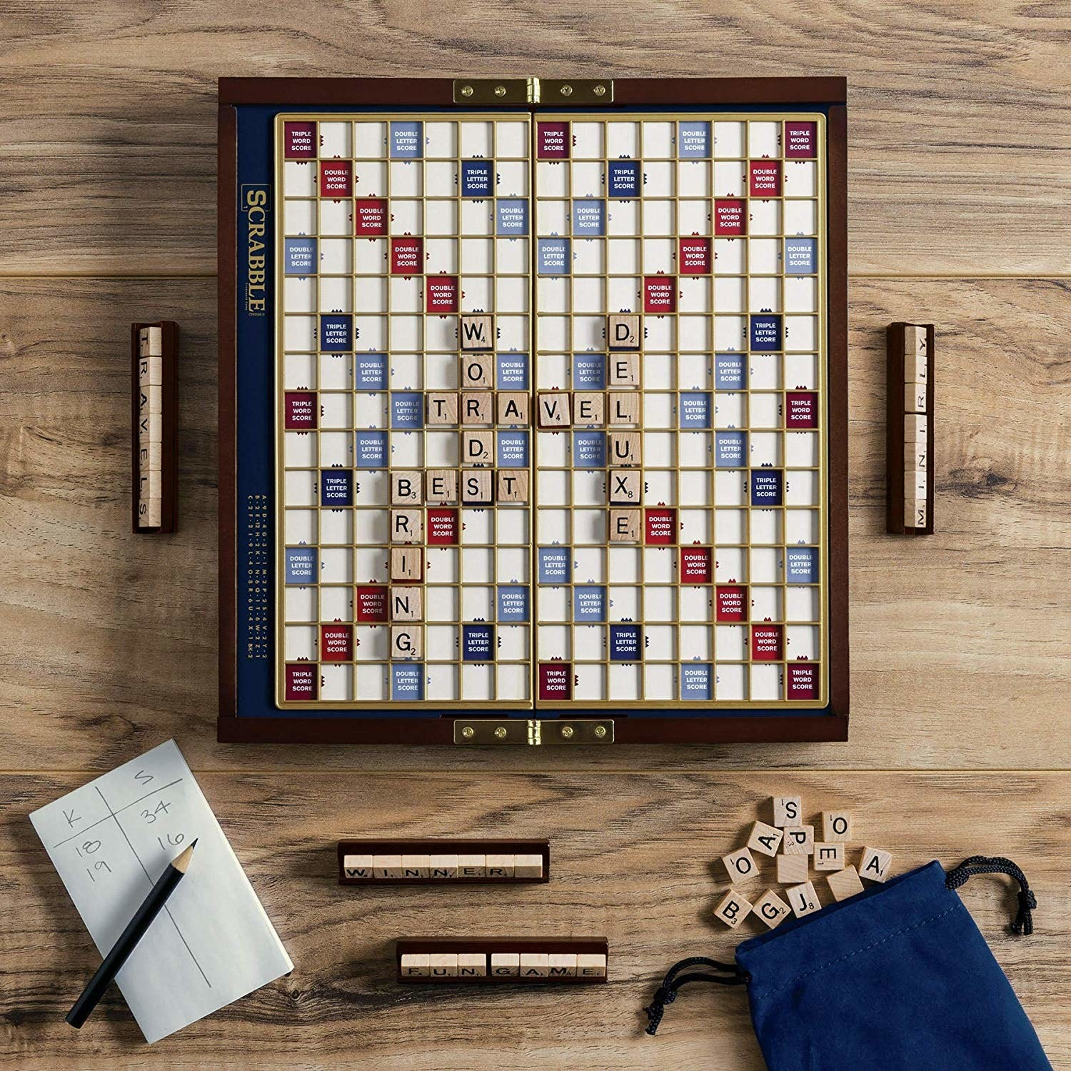 the Scrabble board