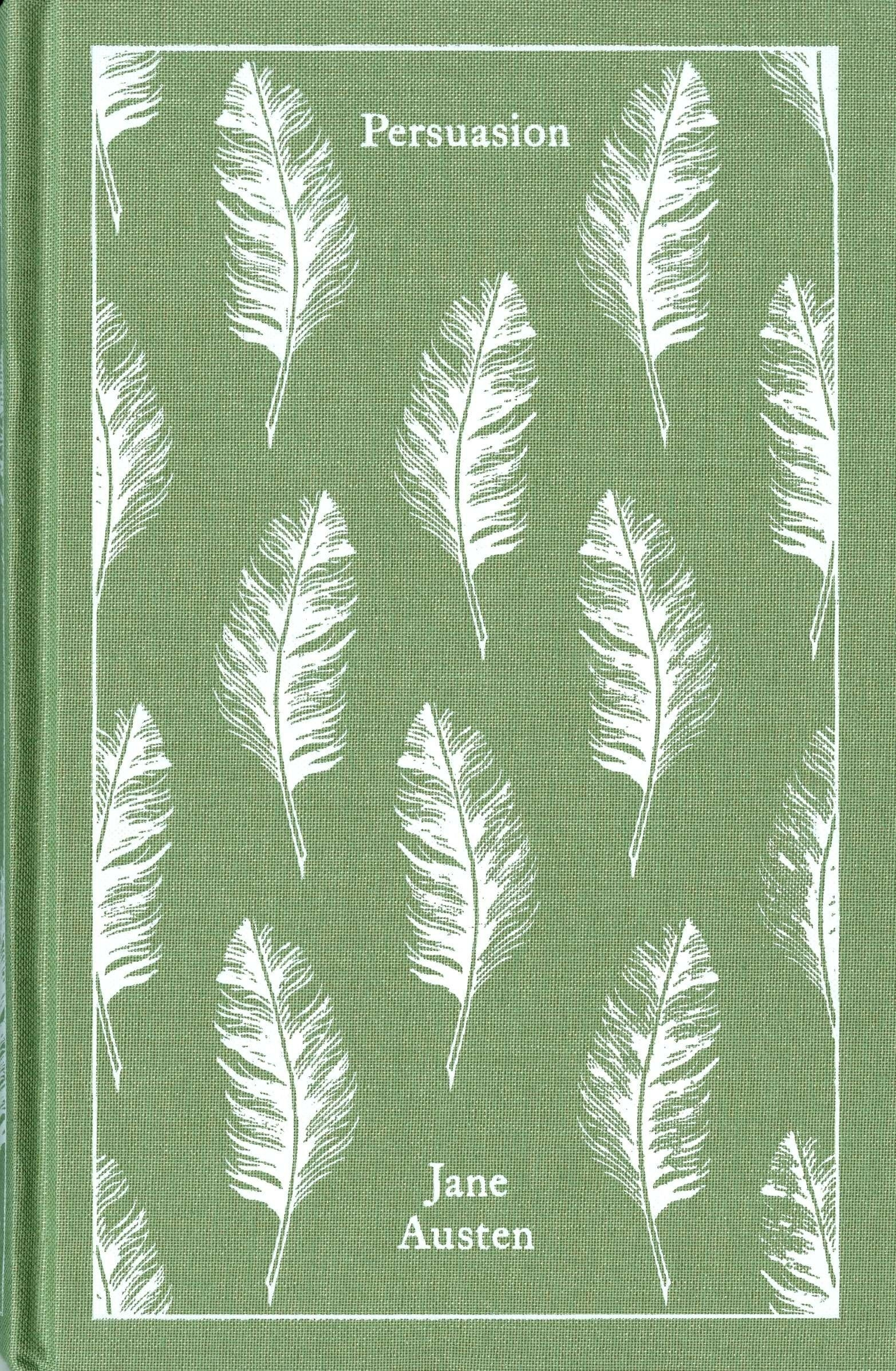 The green book with feathers on the cover