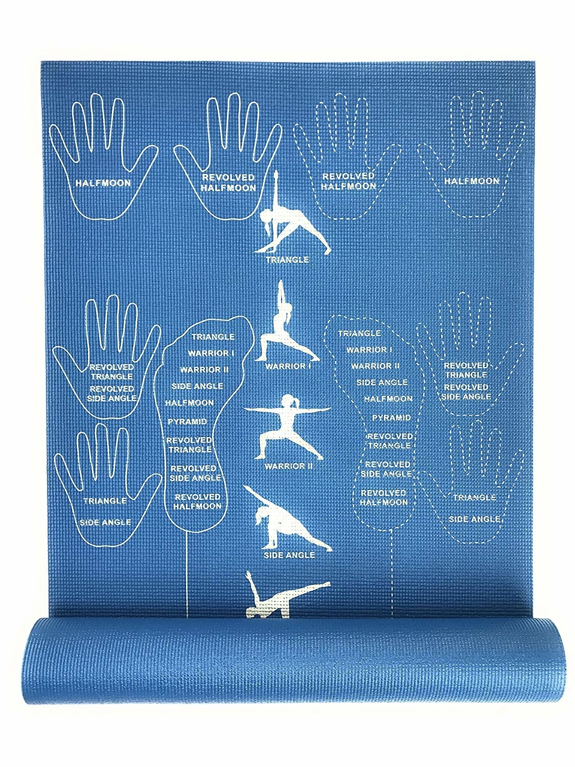 The mat, which shows you what to do for a variety of poses