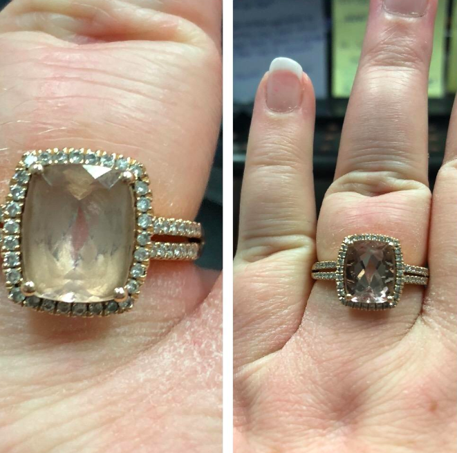 Before and after of ring with use of cleaning pen