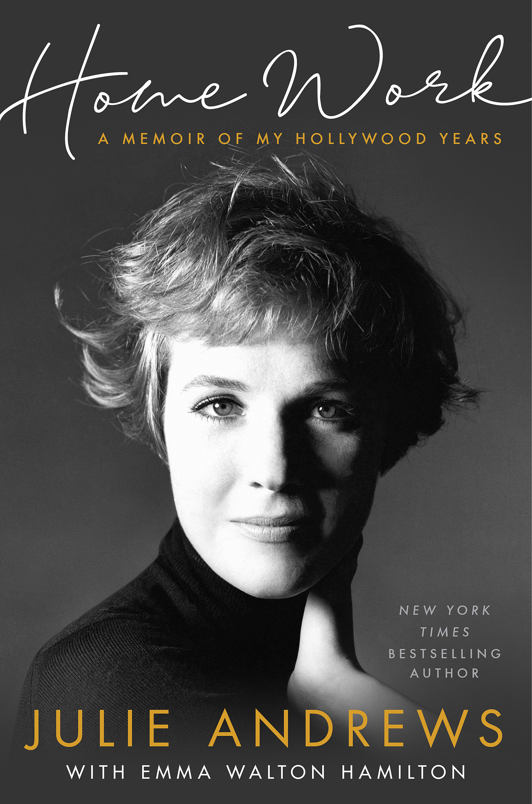 The cover of the book with a picture of Julie Andrews on it