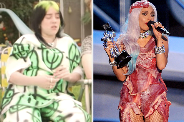 Billie Eilish's Reaction To Lady Gaga's Meat Dress Has Set Twitter On Fire And I Need Everyone To Calm TF Down