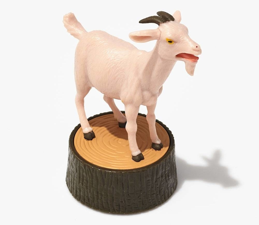The screaming goat figurine