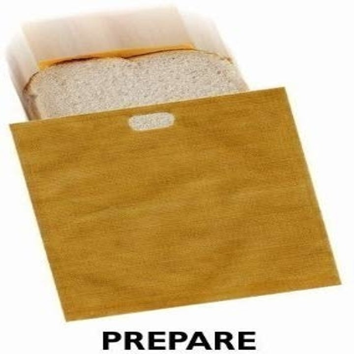 sandwich going into one of the bags