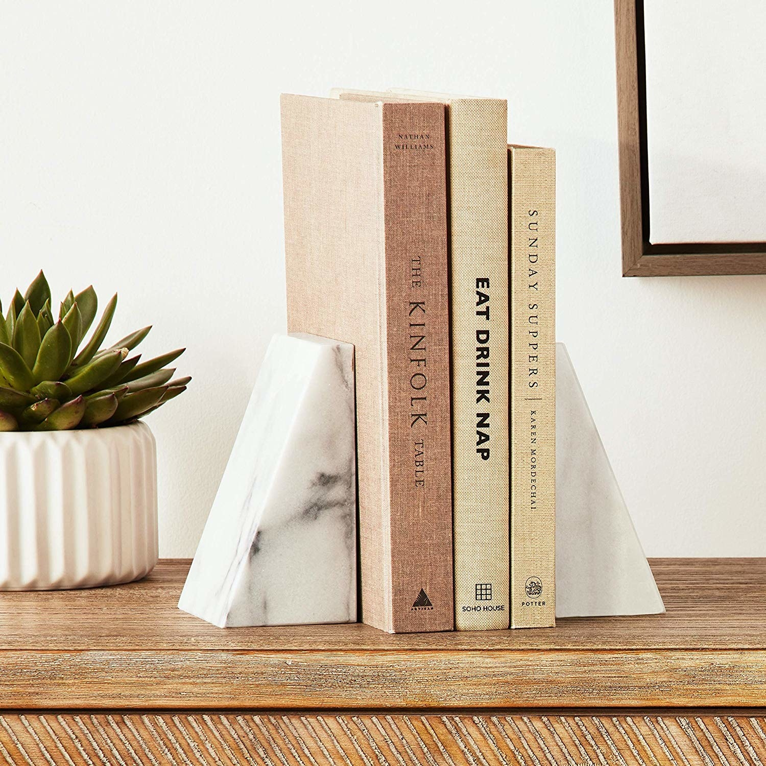 marbled angled bookends