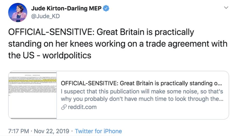 Reddit Believes Secret Brexit Trade Documents Were Posted By
