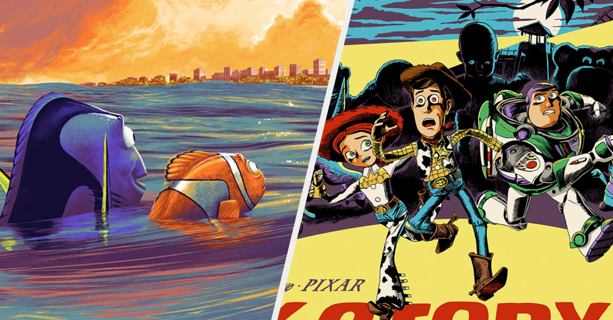 These Reimagined Pixar Movie Posters Are True Works Of Art