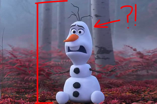 Someone Listed Olaf The Snowman's Height ...