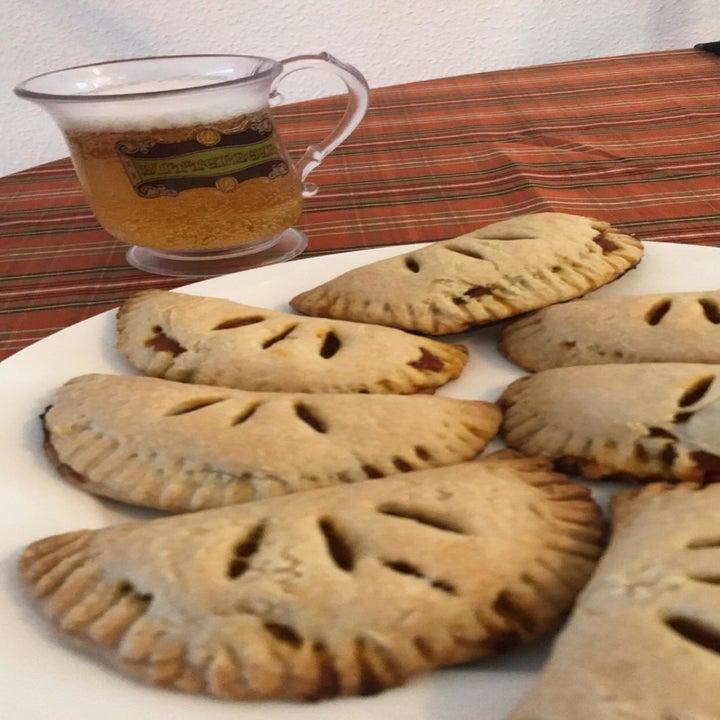 reviewer's fresh baked pumpkin pasties