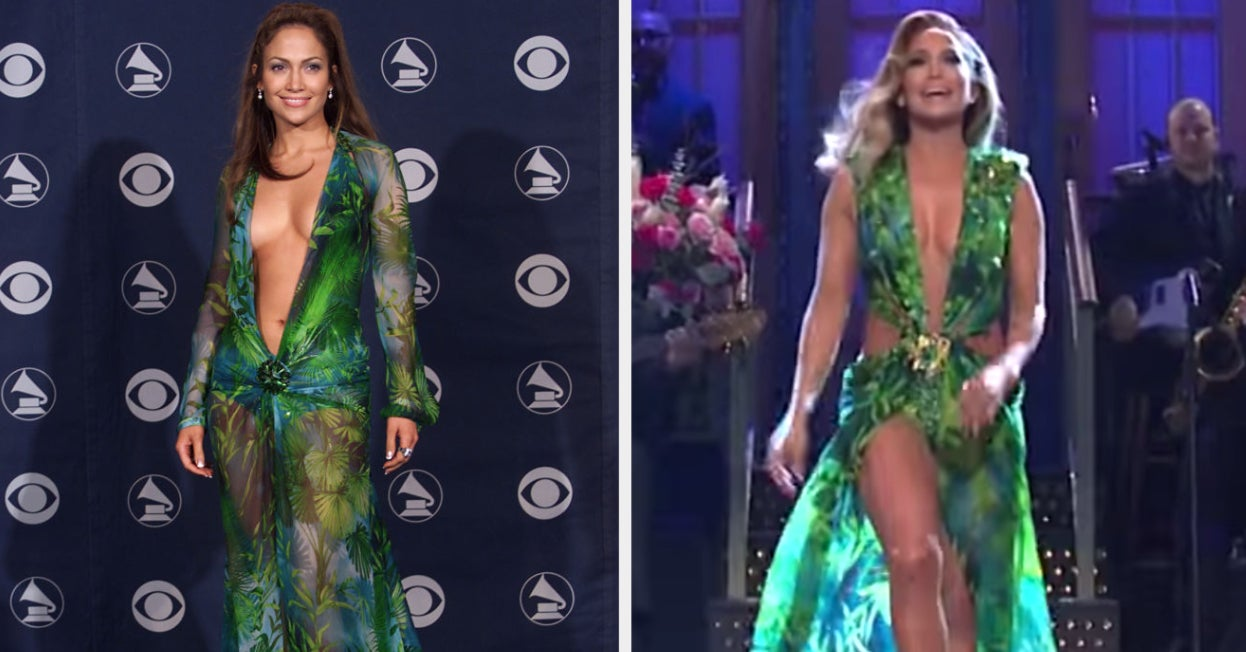 """J.Lo Rocked Her Iconic Versace Dress On """"SNL"""" And I'm Convinced She's Aging Backwards"""