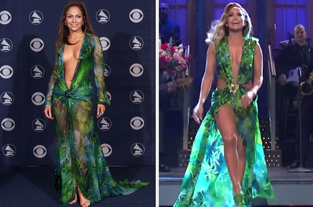 "J.Lo Rocked Her Iconic Versace Dress On ""SNL"" And I'm Convinced She's Aging Backwards"