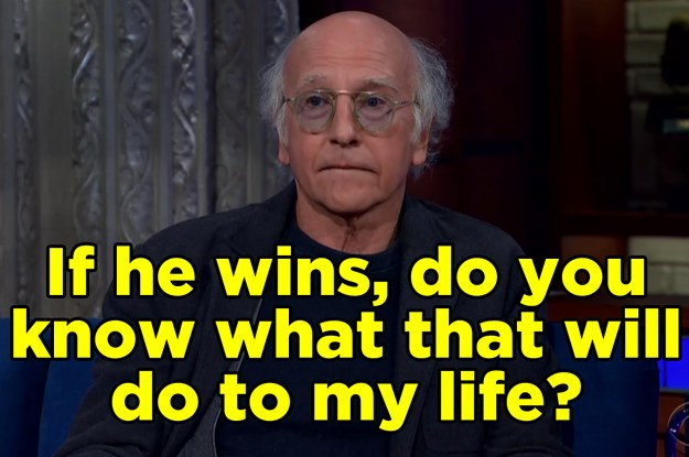 "Larry David Is Worried About A Bernie Sanders Presidency Because He'll Have To Play Him On ""SNL"" For Years"
