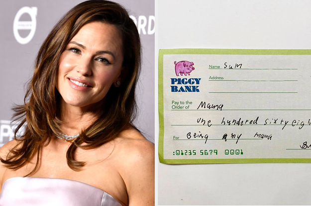 Jennifer Garner's Son Gave Her A Check For Being His Mom, And It's Officially The Cutest Thing I've Ever Seen