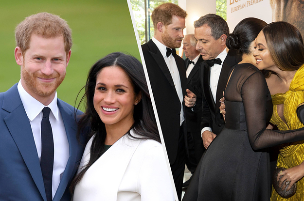 Prince Harry Asked Disney's CEO For A Job For Meghan Markle And The Sweet Moment Was Caught On Video