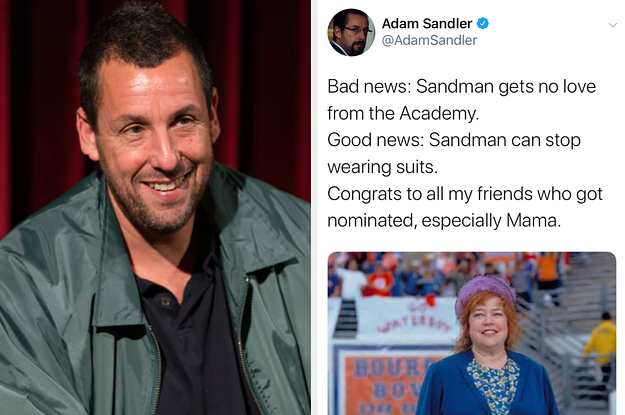 Adam Sandler Reacted To His Oscar Snub ...