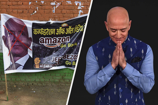 Amazon CEO Jeff Bezos Came To India To Invest A Billion Dollars. Traditional Retailers Shouted At Him To Go Back Home.