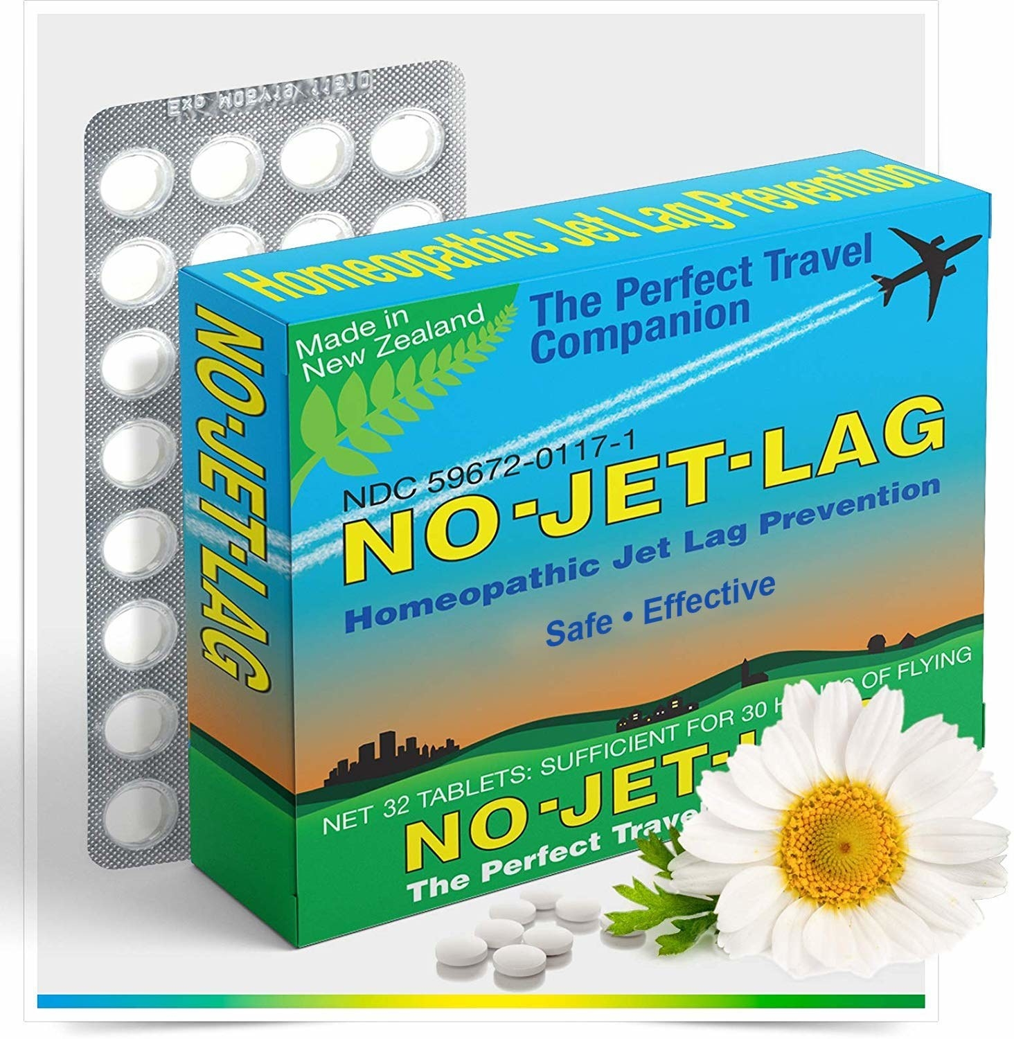The box ofMiers Labs No Jet Lag Homeopathic Jet Lag Remedy