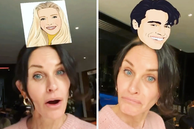 """Courteney Cox Tried The Viral """"Friends"""" Filter On Instagram And Got Every Single Character Except Monica"""