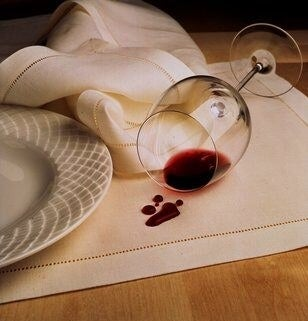 scotchguard protect helps prevent stain from spilled wine