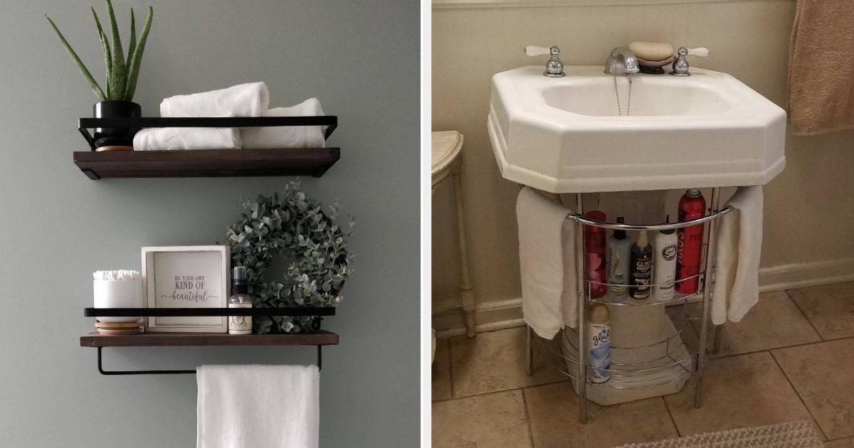 27 Incredibly Clever Storage Ideas For, Bathroom Storage Under Sink Ideas