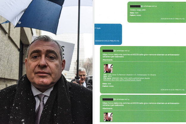 Here's What Giuliani's Associate Lev Parnas Was Sharing On WhatsApp As He Investigated The Ukraine Conspiracy Theory